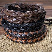 Украшения handmade. Livemaster - original item Leather braided bracelet