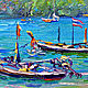 Painting with the sea 'Phuket. The Panwa beach in the Rainy Season' oil on canvas. Pictures. Multicolor Gallery. My Livemaster. Фото №4