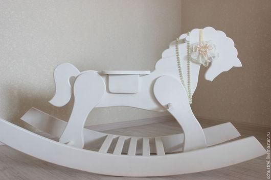 Детская ручной работы. Ярмарка Мастеров - ручная работа. Купить Детская лошадка качалка из массива кедра Белая ночь. Handmade.