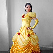 "Одежда handmade. Livemaster - original item Belle ""Beauty and the Beast"" (Red roses). Animator-actor suit. Handmade."