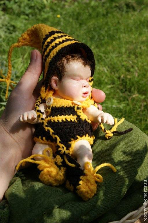Куклы-младенцы и reborn ручной работы. Ярмарка Мастеров - ручная работа. Купить Младенец из пластики. Handmade. Младенец, пчелка