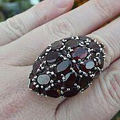 Ring handmade. Livemaster - original item Luxury ring Bordeaux with grenades. Handmade.