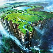 """Картины и панно handmade. Livemaster - original item Landscape Oil Painting on canvas - """"Height"""". Handmade."""