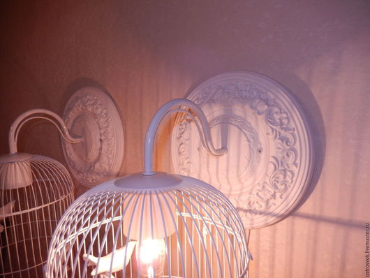 """Освещение ручной работы. Ярмарка Мастеров - ручная работа. Купить бра настенные """"Птички вклетке"""". Handmade. Белый, светильник для бара"""
