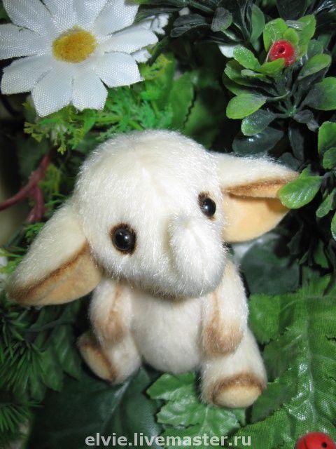 Мишки Тедди ручной работы. Ярмарка Мастеров - ручная работа. Купить Белый слоник. Handmade. Слоник, миниатюра, подарок, миништофф