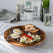 Посуда handmade. Livemaster - original item Flat plate made of Cedar from the