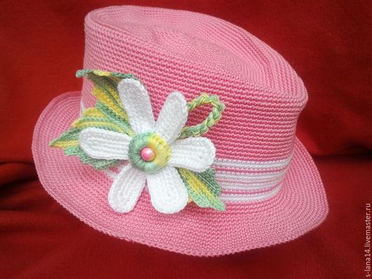 Шапки и шарфы ручной работы. Ярмарка Мастеров - ручная работа. Купить Шляпка для маленькой принцессы. Handmade. Разноцветный, летняя