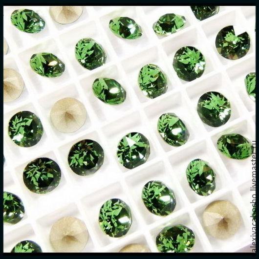 В наличии - 85 шт  № 11   Цвет - дымчато зеленый (Crystal Erinite) оригинальный номер - # 360