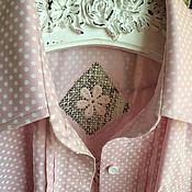 Блузки ручной работы. Ярмарка Мастеров - ручная работа Рубашка1008 розовая. Handmade.
