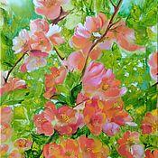 Pictures handmade. Livemaster - original item Japonica in bloom. Handmade.
