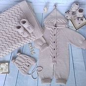 Одежда детская handmade. Livemaster - original item A baby kit with braids