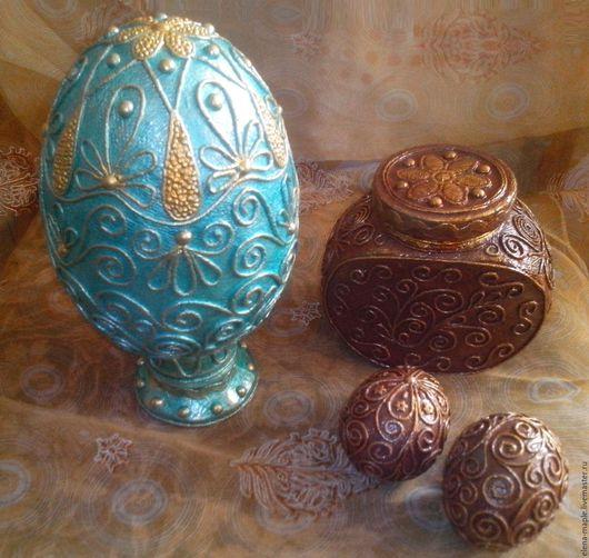 Подарки на Пасху ручной работы. Ярмарка Мастеров - ручная работа. Купить Пасхальное яйцо-гигант на подставке. Handmade. Подарок, яйцо