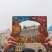 Зеркала ручной работы. Ярмарка Мастеров - ручная работа Зеркало Дворы колодцы. Handmade.