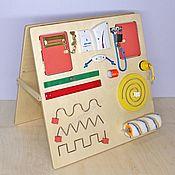 Бизиборды ручной работы. Ярмарка Мастеров - ручная работа Бизиборд компакт двухсторонний с лабиринтами 50 на 50 см. Handmade.