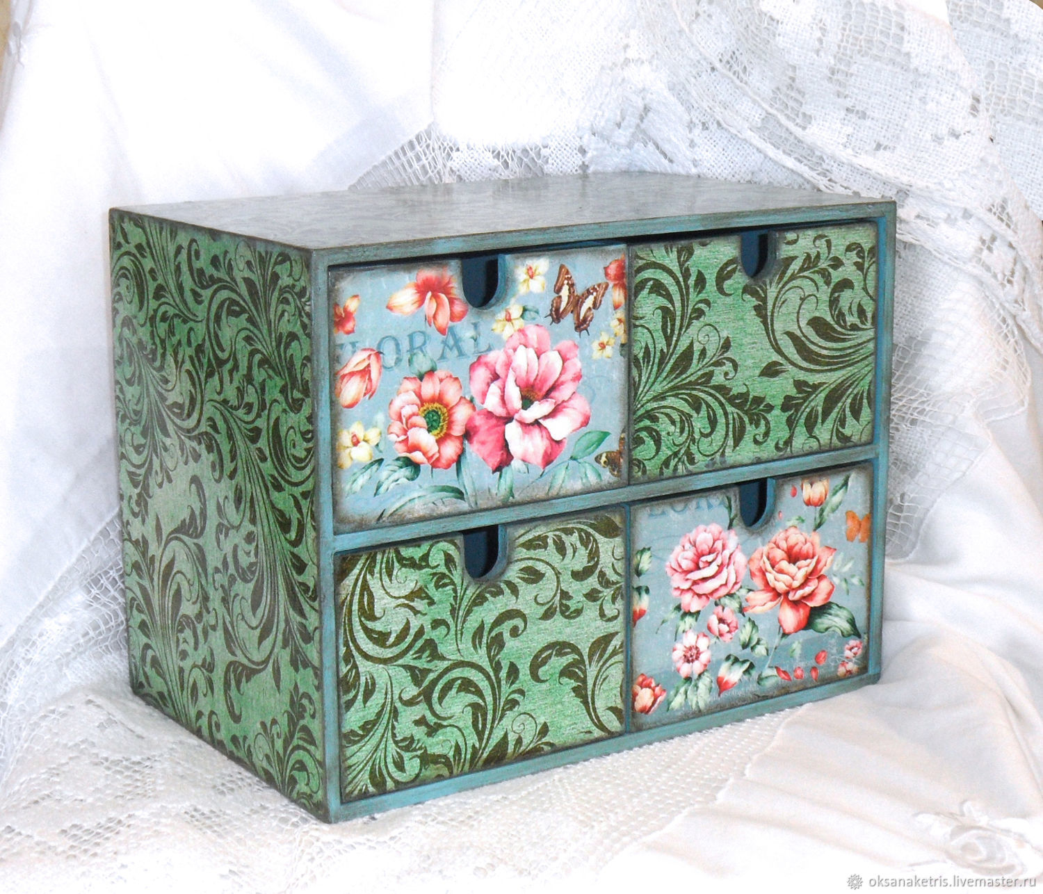 Mini chest of drawers Turquoise, Mini Dressers, Novosibirsk,  Фото №1