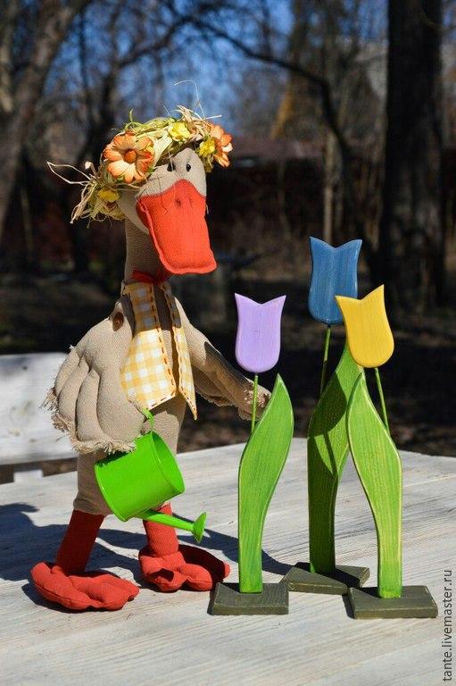 Игрушки животные, ручной работы. Ярмарка Мастеров - ручная работа. Купить Гусенок Гришка. Handmade. Текстильная кукла, гусь