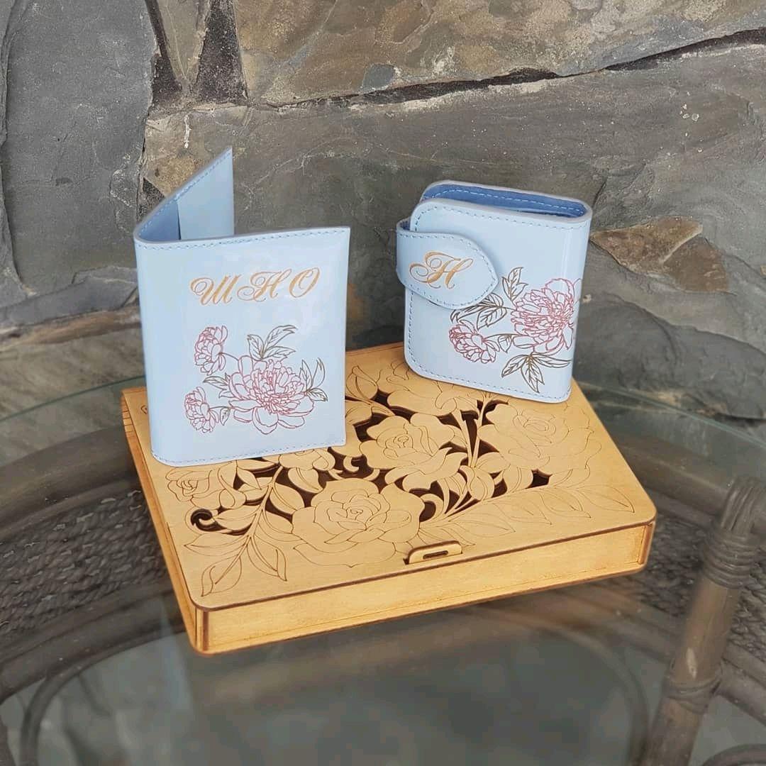 Подарок на 14ти летие. Кошелек и обложка на паспорт, Именные сувениры, Иркутск,  Фото №1