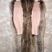 Одежда ручной работы. Ярмарка Мастеров - ручная работа жилет мех лисы. Handmade.