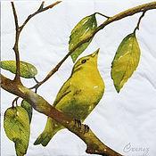 Материалы для творчества handmade. Livemaster - original item 12pc napkins for decoupage summer garden bird the blue tit. Handmade.