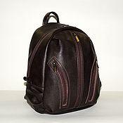 Сумки и аксессуары handmade. Livemaster - original item Backpack leather womens brown