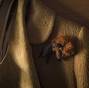 Аксессуары ручной работы. Ярмарка Мастеров - ручная работа Брошь. Спящий на плече мишка.. Handmade.