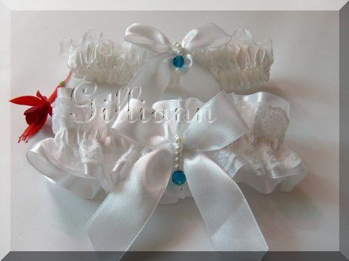 Одежда и аксессуары ручной работы. Ярмарка Мастеров - ручная работа. Купить Комплект подвязок для невесты «Лаура». Handmade. Белый