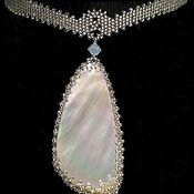 "Украшения manualidades. Livemaster - hecho a mano Necklace of beads ""Mother of pearl"". Handmade."