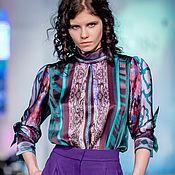Одежда ручной работы. Ярмарка Мастеров - ручная работа Блузка и брюки Фиолетовые изумруды. Handmade.