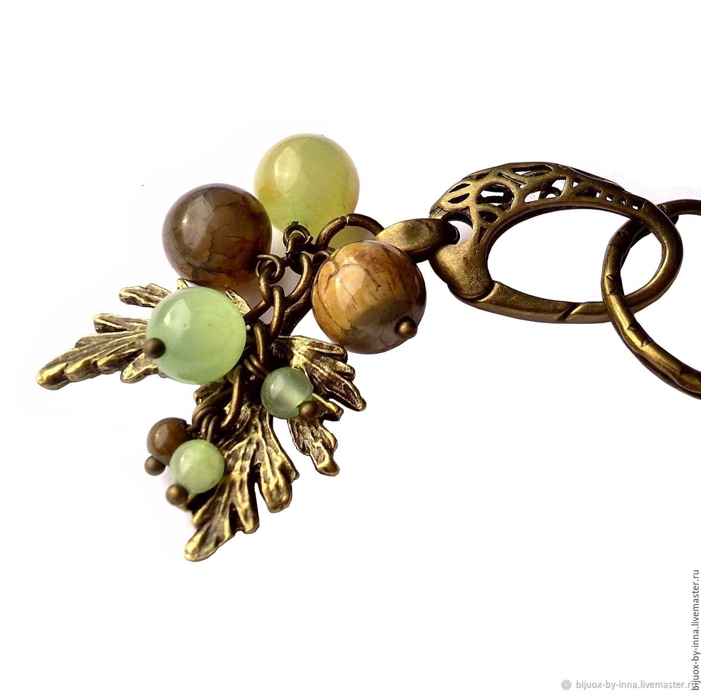 Брелок для ключей с натуральным камнем