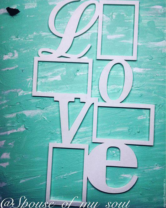 Фоторамки ручной работы. Ярмарка Мастеров - ручная работа. Купить Рамка LOVE. Handmade. Комбинированный, белый, рамочка love, любовь