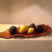 Для дома и интерьера ручной работы. Ярмарка Мастеров - ручная работа Коньячный лист с фруктами. Handmade.
