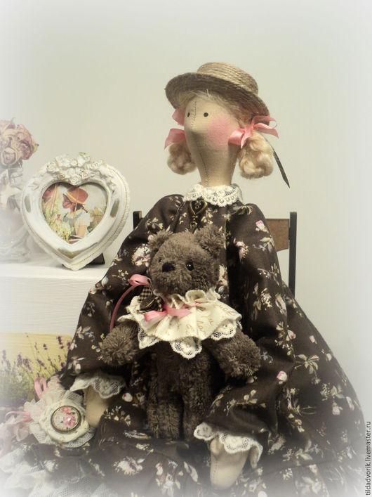 Куклы Тильды ручной работы. Ярмарка Мастеров - ручная работа. Купить Кукла в стиле Тильда. Софи.... Handmade. Коричневый