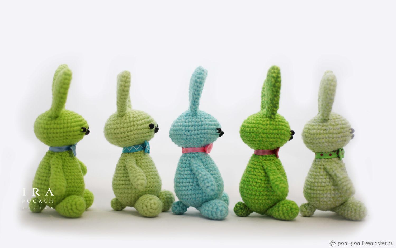 Crochet cute bunnies Gentlemen, Stuffed Toys, Volgograd,  Фото №1
