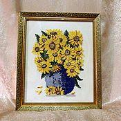 Картины и панно handmade. Livemaster - original item Autumn flowers in vase. Handmade.