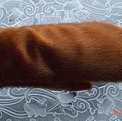 Аксессуары ручной работы. Ярмарка Мастеров - ручная работа варежки рыжие из меха серки. Handmade.