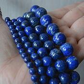 Материалы для творчества handmade. Livemaster - original item Afghan lapis smooth beads 6,8,10,12,14 pads mm. Handmade.