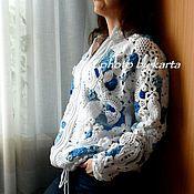 """Одежда ручной работы. Ярмарка Мастеров - ручная работа Жакет """"Туман над водой"""". Handmade."""