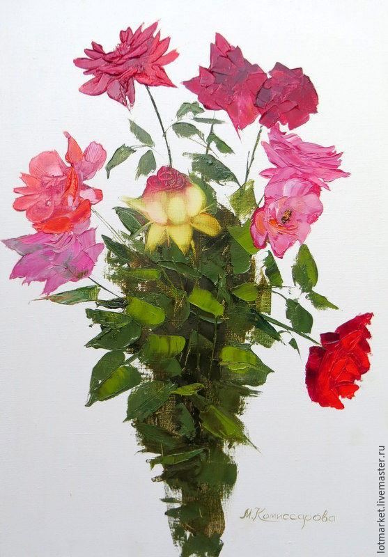 Картина Букет садовых роз, Картины, Краснодар,  Фото №1