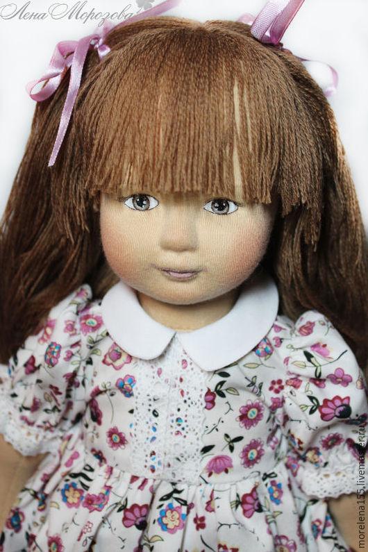 Коллекционные куклы ручной работы. Ярмарка Мастеров - ручная работа. Купить Текстильная кукла Нюша. Handmade. Бежевый, куклы и игрушки