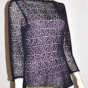 "Одежда handmade. Livemaster - original item Lace knit blouse. Knitting blouse.""Abbi"". Handmade."