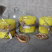 """Сувениры и подарки ручной работы. Ярмарка Мастеров - ручная работа Свеча """"Сочный лимон"""". Handmade."""