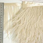 handmade. Livemaster - original item Trim of ostrich feathers 10-15 cm beige. Handmade.