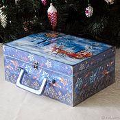 Сувениры и подарки handmade. Livemaster - original item Gift wrap: Suitcase for Christmas toys Magic night. Handmade.