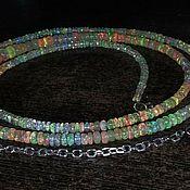 Украшения handmade. Livemaster - original item Opal beads 93,5 carats 83 cm. Handmade.