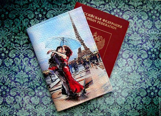 Обложки ручной работы. Ярмарка Мастеров - ручная работа. Купить Обложка на паспорт ОСТАНОВИСЬ МГНОВЕНЬЕ.... Handmade. Комбинированный, паспортная обложка
