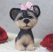 Куклы и игрушки handmade. Livemaster - original item Copyright felted toy dog Yorkshire Terrier Button. Handmade.