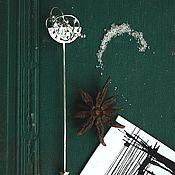 Украшения ручной работы. Ярмарка Мастеров - ручная работа Булавка Спутанность серебро 925 минимализм. Handmade.