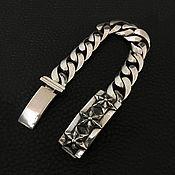 Bead bracelet handmade. Livemaster - original item Silver bracelet with stars massive 15. Handmade.