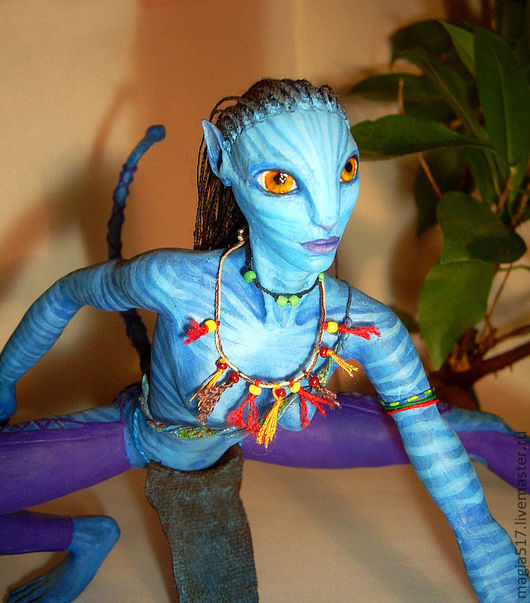 Коллекционные куклы ручной работы. Ярмарка Мастеров - ручная работа. Купить Нэйтири (Аватар). Handmade. Синий, полимерная глина, персонаж
