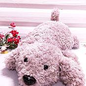 Мягкие игрушки ручной работы. Ярмарка Мастеров - ручная работа Плюшевая собака вязаная крючком. Handmade.